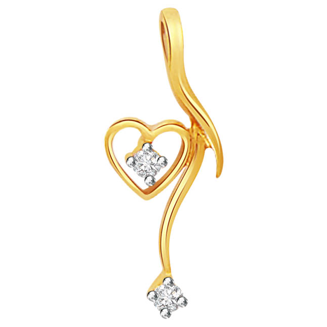 Embracing Heart -embracing diamond Pendants| Surat Diamond Jewelry