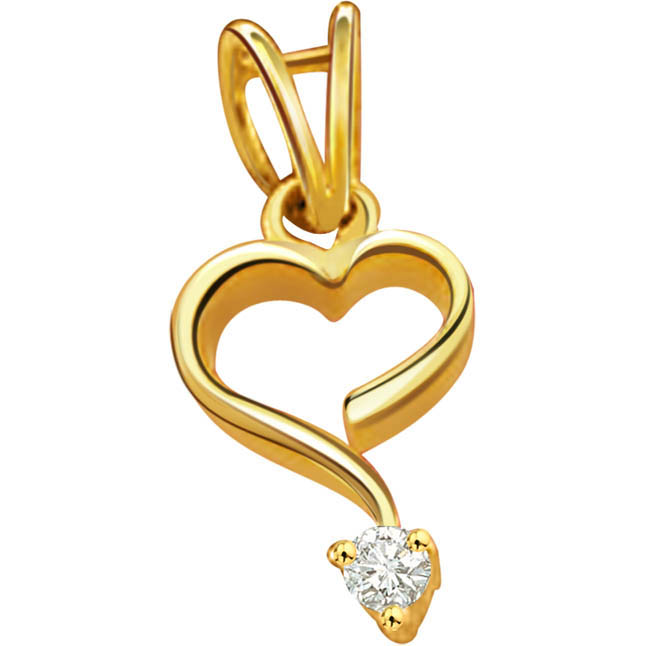 Heart's Desire -diamond Pendants| Surat Diamond Jewelry