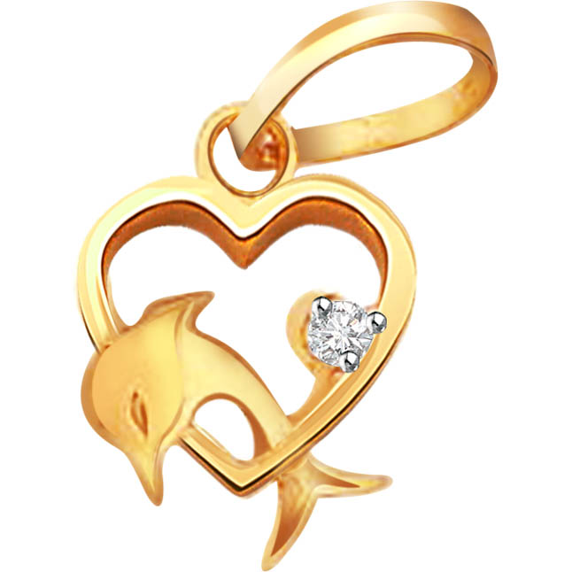 Doll -heart -Phin -diamond Pendants| Surat Diamond Jewelry