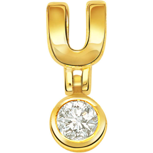 Golden Lava Volcano Real Diamond Solitaire Pendants