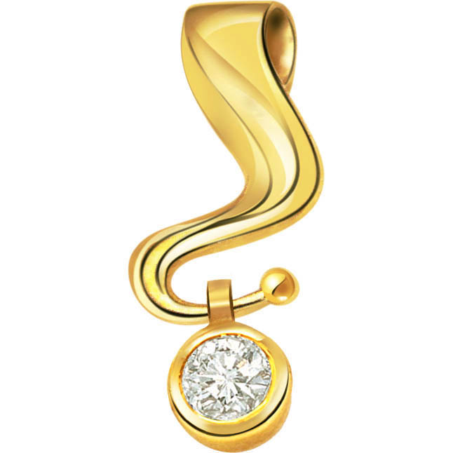 Dazzling Swing Pure Classic Diamond Pendants -Solitaire