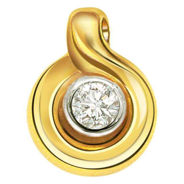 Sparkling Clean Diamond Pendants P256 -Solitaire