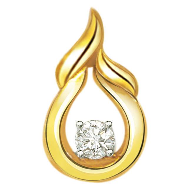 Firings Desire Diamond & 9kt Gold Pendants -P260 -Teenage