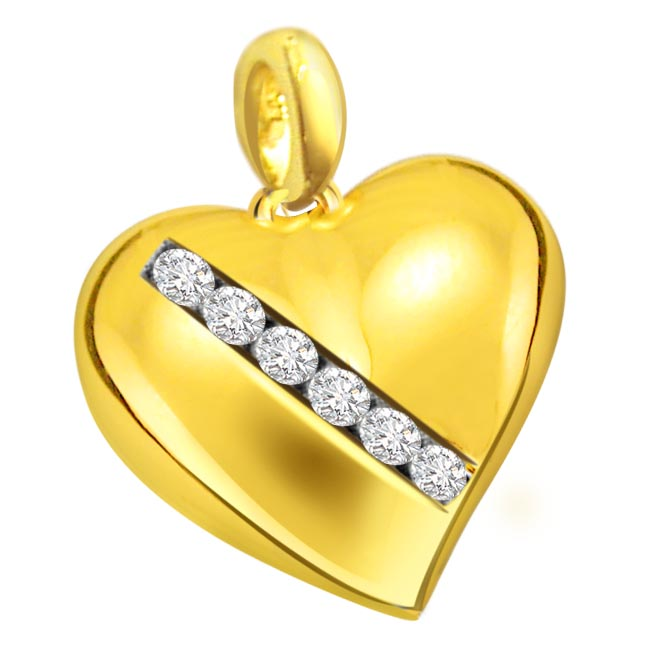 Fun Of Life Diamond Heart Pendants