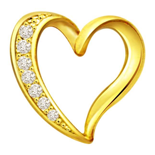 Spiritual Touch Diamond Heart Pendants