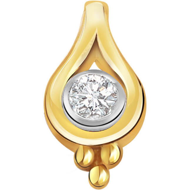 Dropping Stars Real Diamond Solitaire Pendants P277 -Solitaire