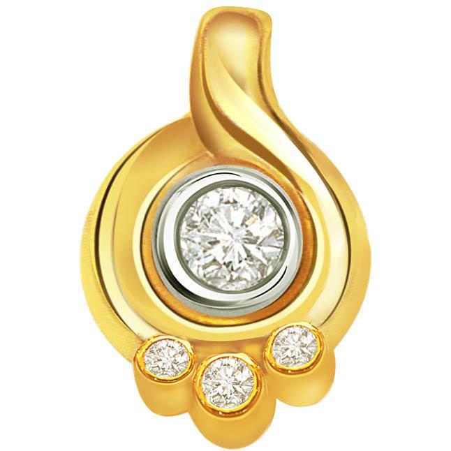 Dancing Twist Classic Diamond Solitaire Pendants P278 -Solitaire