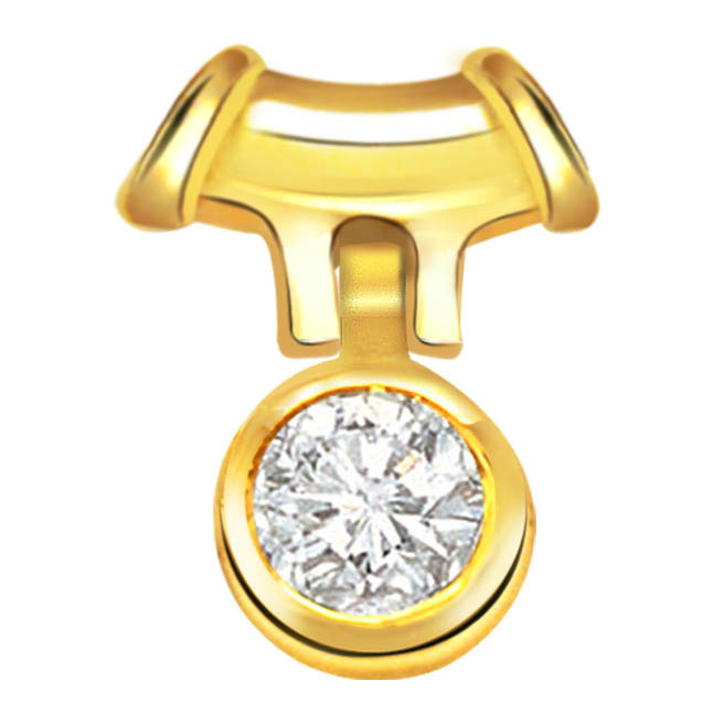 Diva Desire Stylish Diamond Solitaire Pendants -Solitaire