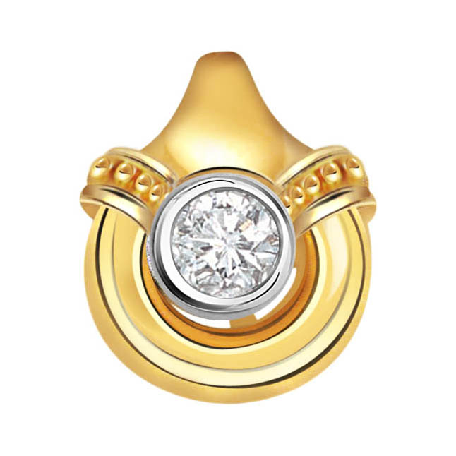 Exotic Bloom Brilliant Diamond Solitaire Pendants -Solitaire
