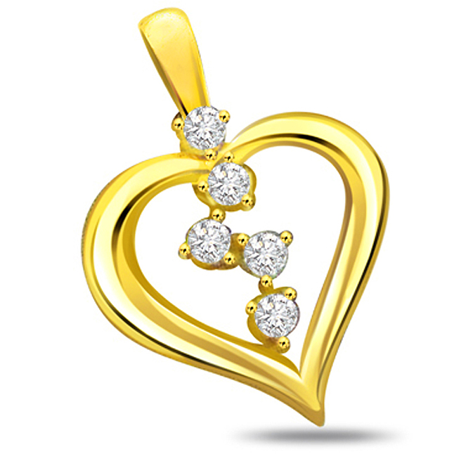 Special Moments Diamond Exotic Heart Pendants