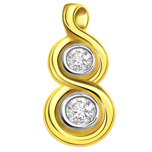 Double Drops 0.16 ct Diamond Pendants P342