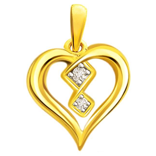 Art at Heart 0.04 ct Diamond Pendants P355