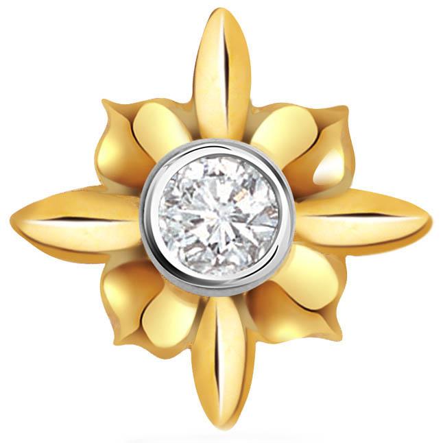 Flower Galaxy Diamond Solitaire Pendants P397 -Flower Shape Pendants