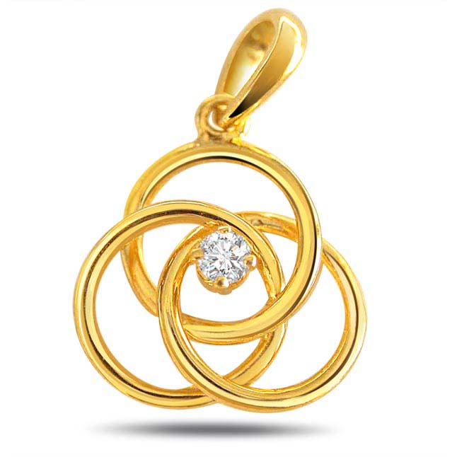 Spiral Shaped Diamond Pendants -Designer Pendants
