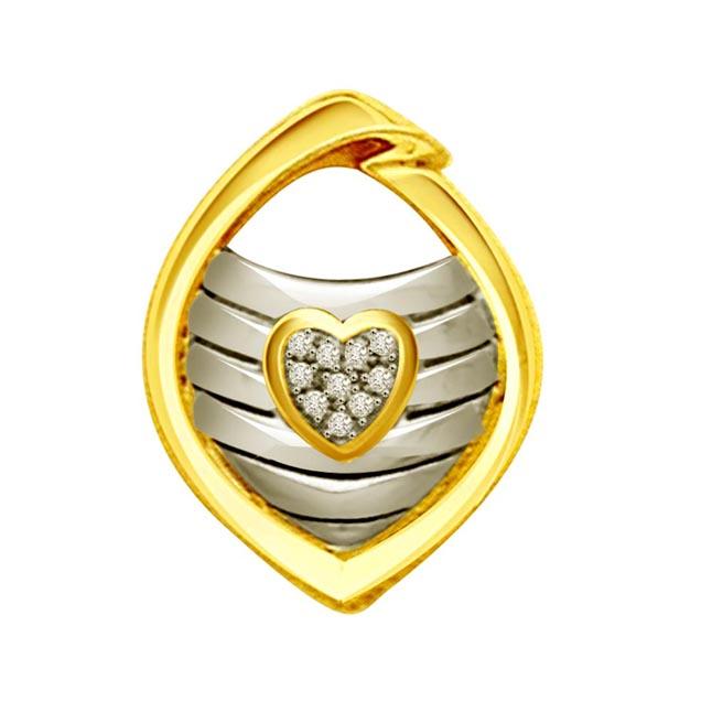 Diamond Heart Shape Pendants For Her