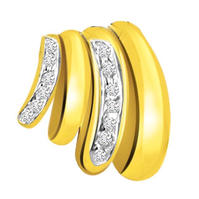 Golden Fingers 0.20ct Diamond Pendants P434 -Designer Pendants