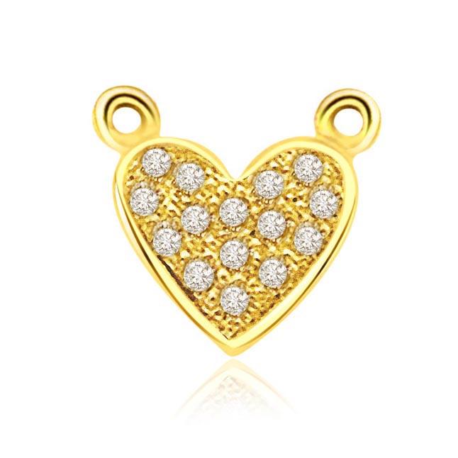 Heart Galaxy 0.10ct Diamond Pendants