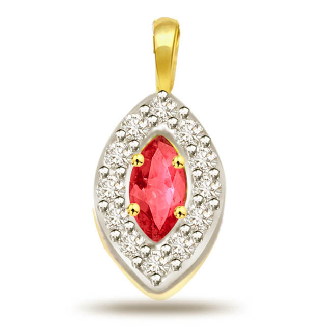 Sparkly Ruby & Diamond Pendants 0.24ct -Diamond -Ruby