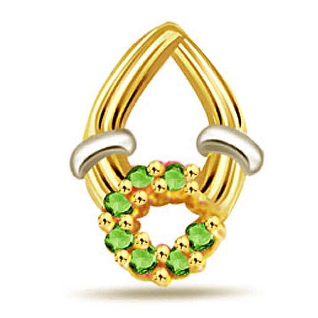 0.15ct Fine Emerald Gold Pendants