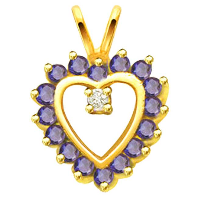 Heart of Sapphire Pendants