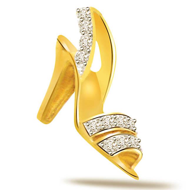 Diamond 18kt Gold Pendants P535 -Designer Pendants