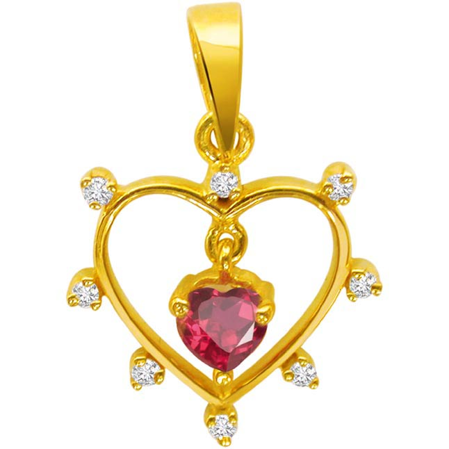 Heart of Ruby Pendants