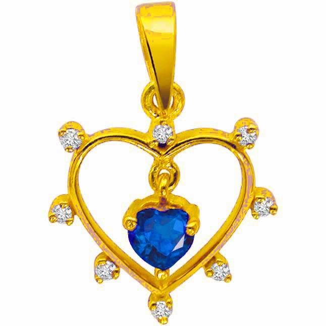0.06 cts Double Heart Shaped Diamond Pendants