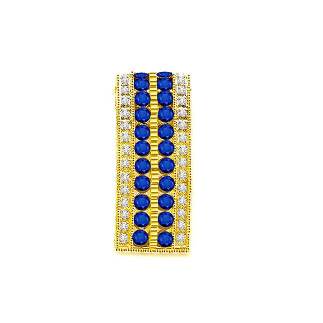 0.28 cts 18kt Gold Diamond & Sapphire Pendants