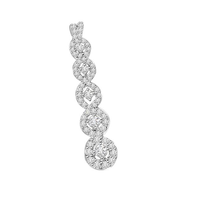 0.45 cts White Gold Diamond Pendants -White Gold