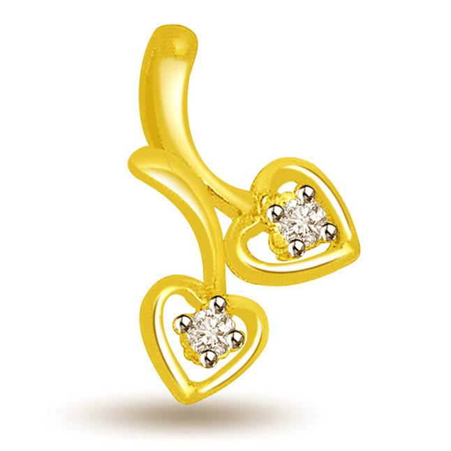Little Hearts Diamond Pendants