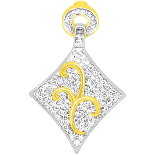 0.65 cts Fancy Diamond Pendants In 18K Gold -Designer Pendants