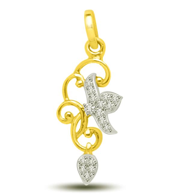 Raindrop Diamond & 18kt Gold Pendants For That Beautiful Lady -Designer Pendants