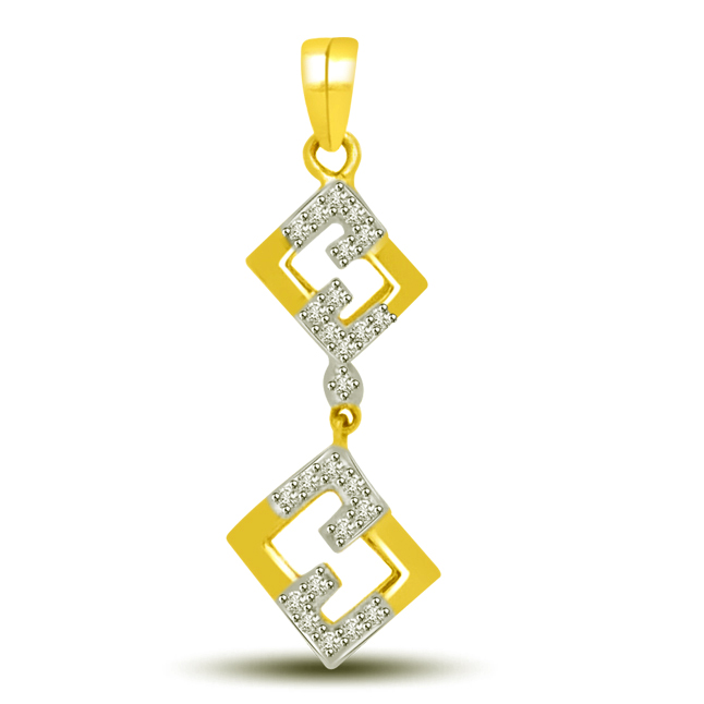 Love In The Air Diamond & Gold Pendants For Her -Designer Pendants