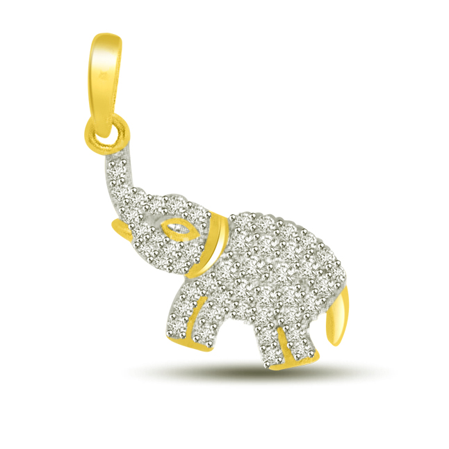 Mighy Elephant : Diamond & Gold Pendants -Designer Pendants