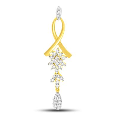 Drop Of Pure Love : Diamond & Gold Pendants -Designer Pendants
