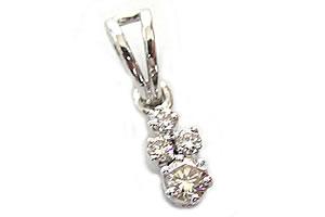 Everlasting Diamond Pendants -White Rhodium Pendants