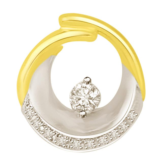 You are in My Arms Solitaire Diamond Pendants
