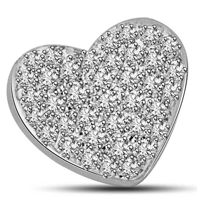 My Heart is Full of Your Diamonds White Gold Pendants