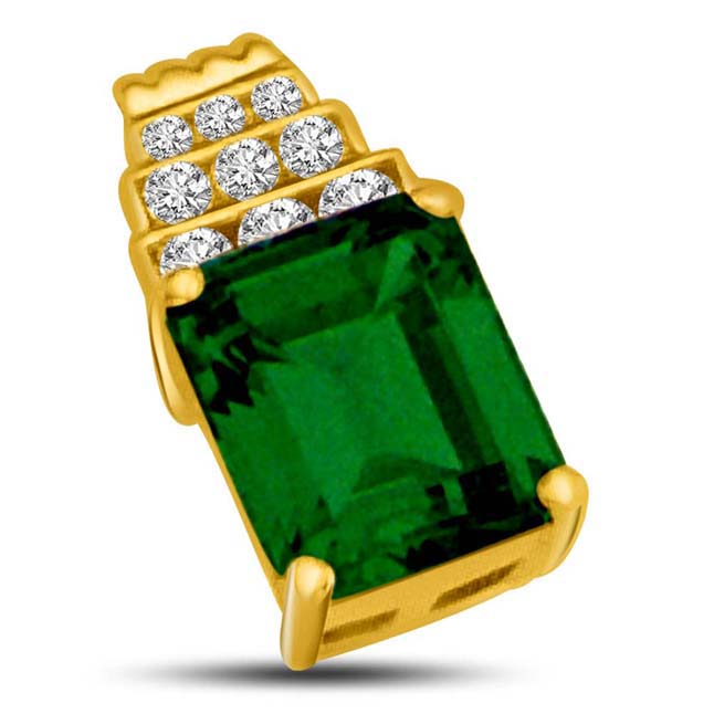 Step up to Green Real Emerald Gold & Diamond Pendants