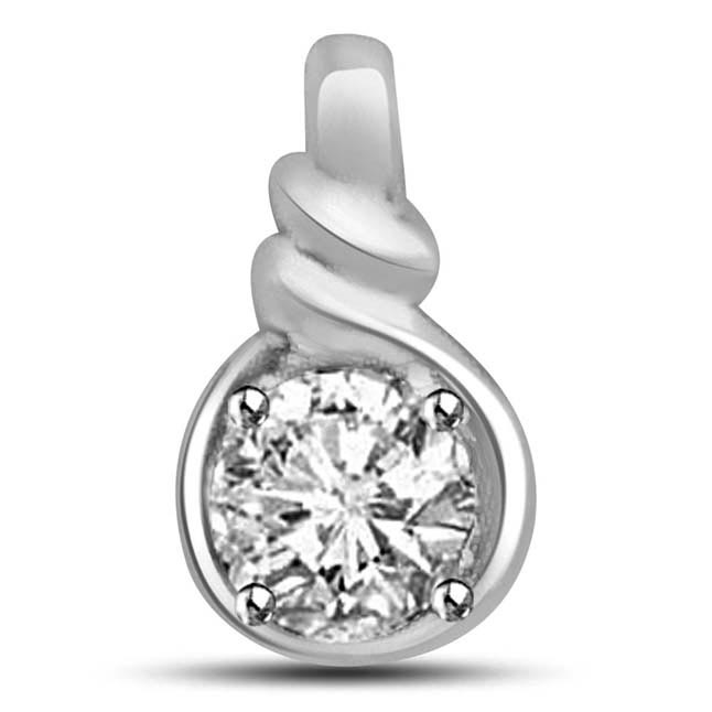 I am with You -0.30ct Diamond Solitaire Pendants -Solitaire