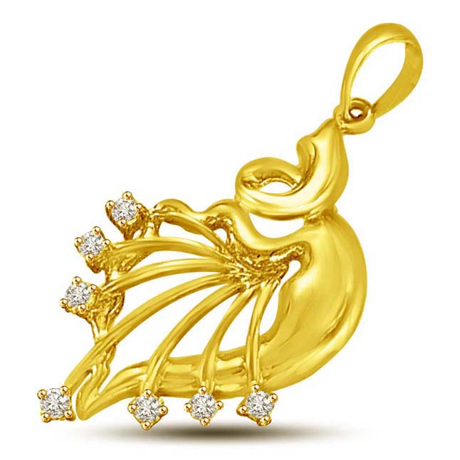 Enamourings Diamond & Gold Pendants -Designer Pendants