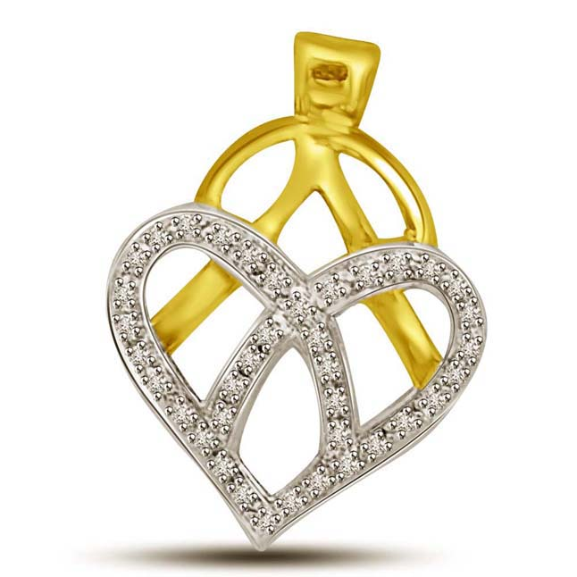 Heart's Delight Pendants of Diamond & Gold