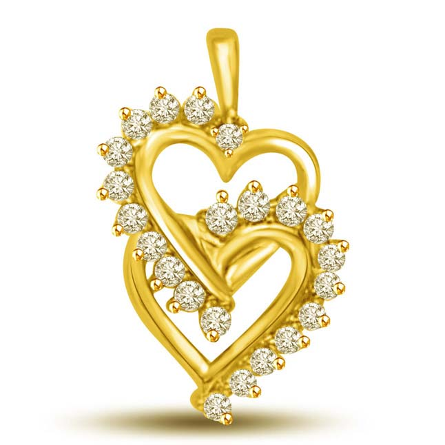 Heart n Style -0.22 cts Heart Shape Diamond Pendants