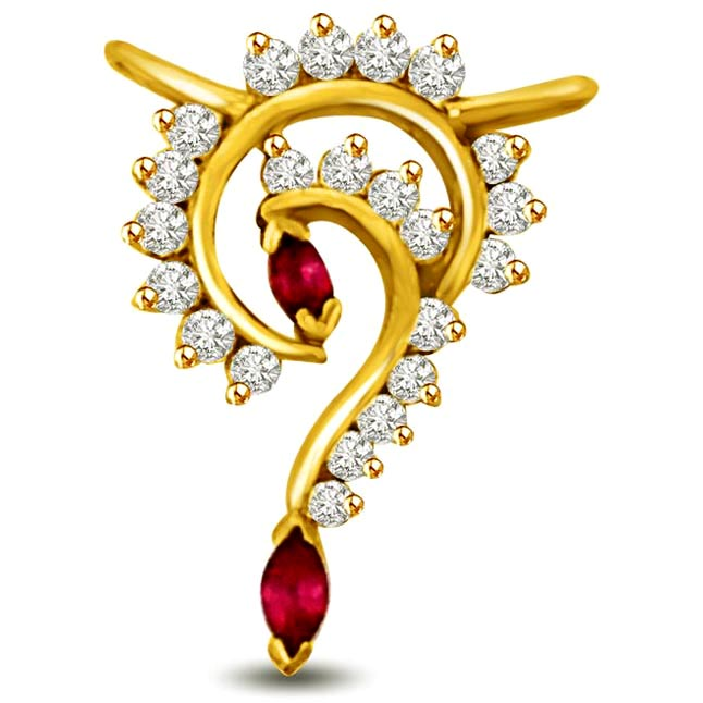 Whose Life it is Anyway? Diamond & Ruby Gold Pendants