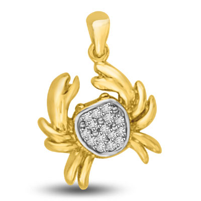0.06CT Diamond & 18kt Gold Scorpio Pendants -Teenage