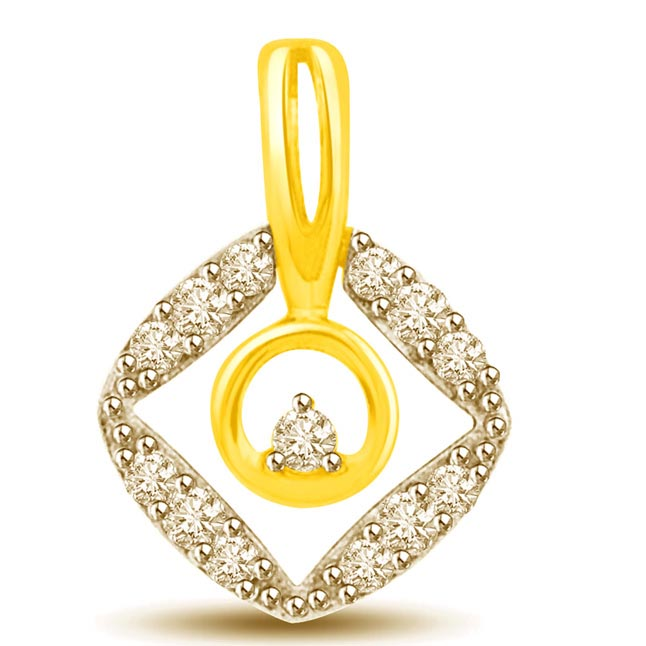 You are in My Heart Two Tone Diamond & Gold Pendants