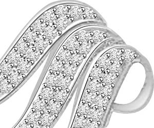 Past, Present & Future White Gold Diamond Pendants