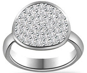 Pave Setting Diamond rings In Wide B In 14k Gold -Pave Collection