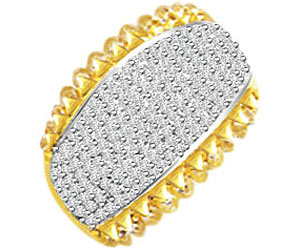 Pave Setting Diamond rings In Wide B In 18k Gold -Pave Collection