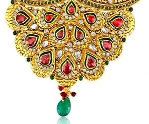 Peacock Design Jodha Akbar Set